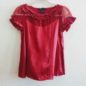 Marc Jacobs Red Silk Top Size 2